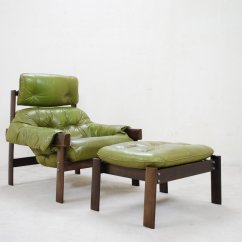 Lime Green Chairs For Sale Weird Rocking Model Mp 041 Leather Lounge Chair And Ottoman
