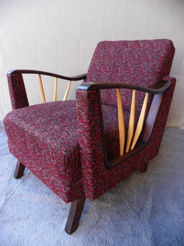Vintage Purple Armchair 1950s Pamono