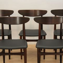 Skovby Rosewood Dining Chairs Swing Chair Dimensions Danish From Mobelfabrik 1960s Set
