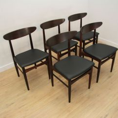 Skovby Rosewood Dining Chairs Silver Desk Chair Danish From Mobelfabrik 1960s Set