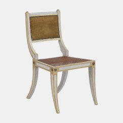 Antique White Dining Chairs Mexican Leather And Tan Set Of 6 For Sale At