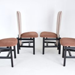 High Back Oak Dining Chairs Chair Design Autocad Mid Century Dutch Set Of 4