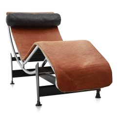 Corbusier Lounge Chair French Art Deco Leather Club Chairs Lc4 Pony By Le For Cassina 1960s
