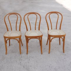 Vintage Bentwood Chairs Teak Shower With Arms Rattan Dining Set Of 3 For Sale