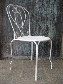 Vintage French Metal Garden Chair Pamono