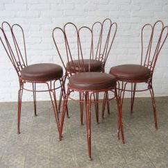 Antique Metal Chairs For Sale Grey Side Chair Vintage With Upholstered Leatherette
