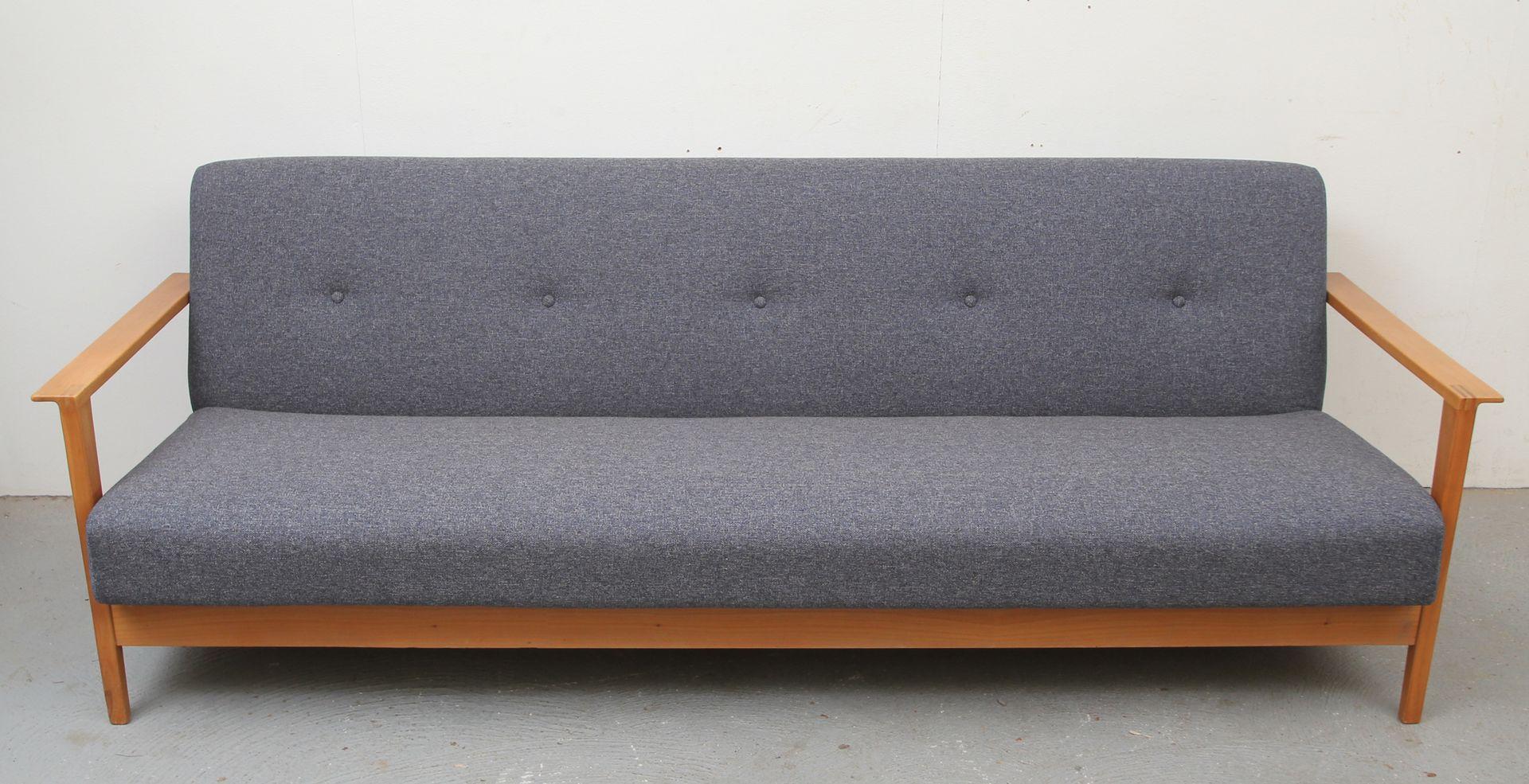 foldable wooden sofa set bed atlanta cherry wood folding 1960s for sale at pamono