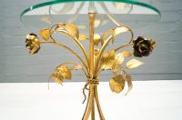 Mid-Century Hollywood Regency Side Table in Gold, 1960s ...