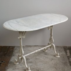 Antique French Bistro Table And Chairs Atlas Tables Santa Fe Springs Oval Garden With Marble Top Cast Iron Base, 1870s For Sale At Pamono