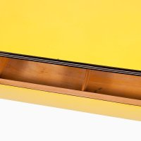 Vintage Yellow Formica Dining Table with Chrome Legs for ...