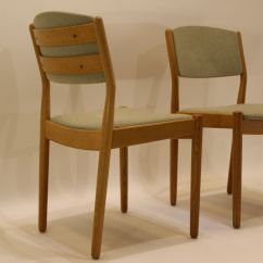 Green Dining Chairs Uk Wicker Moon Chair Mid Century J61 Oak And Fabric By Poul M