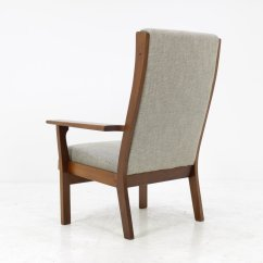 High Back Easy Chair Fishing With Headrest Vintage Ge181a By Hans J Wegner For