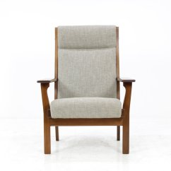 High Back Easy Chair Stokke Singapore Vintage Ge181a By Hans J Wegner For