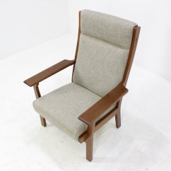 High Back Easy Chair Game Fishing Designs Vintage Ge181a By Hans J Wegner For