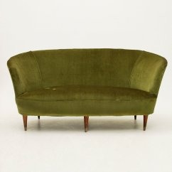 A Sofa In The Forties Chesterfield Corner Italian Green Velvet 1940s For Sale At Pamono