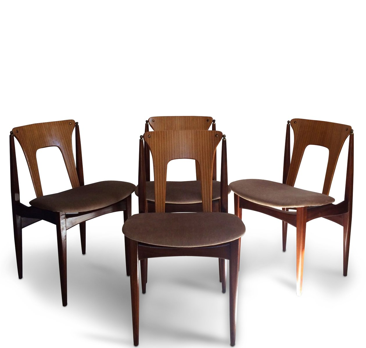 set of 4 dining chairs awesome dinosaur office mid century by elliotts newbury