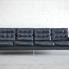 4 Seater Leather Sofa Prices Modern Faux 3 Bed Vintage Black From De Sede 1967 For