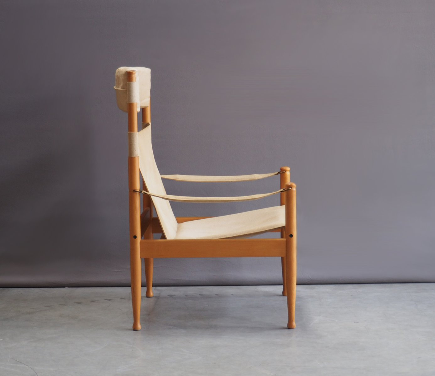 safari high chair bedroom preloved mid century beech and canvas by erik wørts for