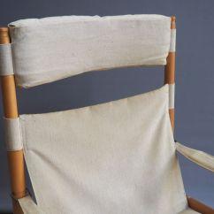 Safari High Chair Zora Swivel Mid Century Beech And Canvas By Erik Wørts For