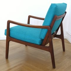 Z Chair Mid Century Chairs For Sale Ebay Fd109 Blue Teak Easy Lounge By Ole