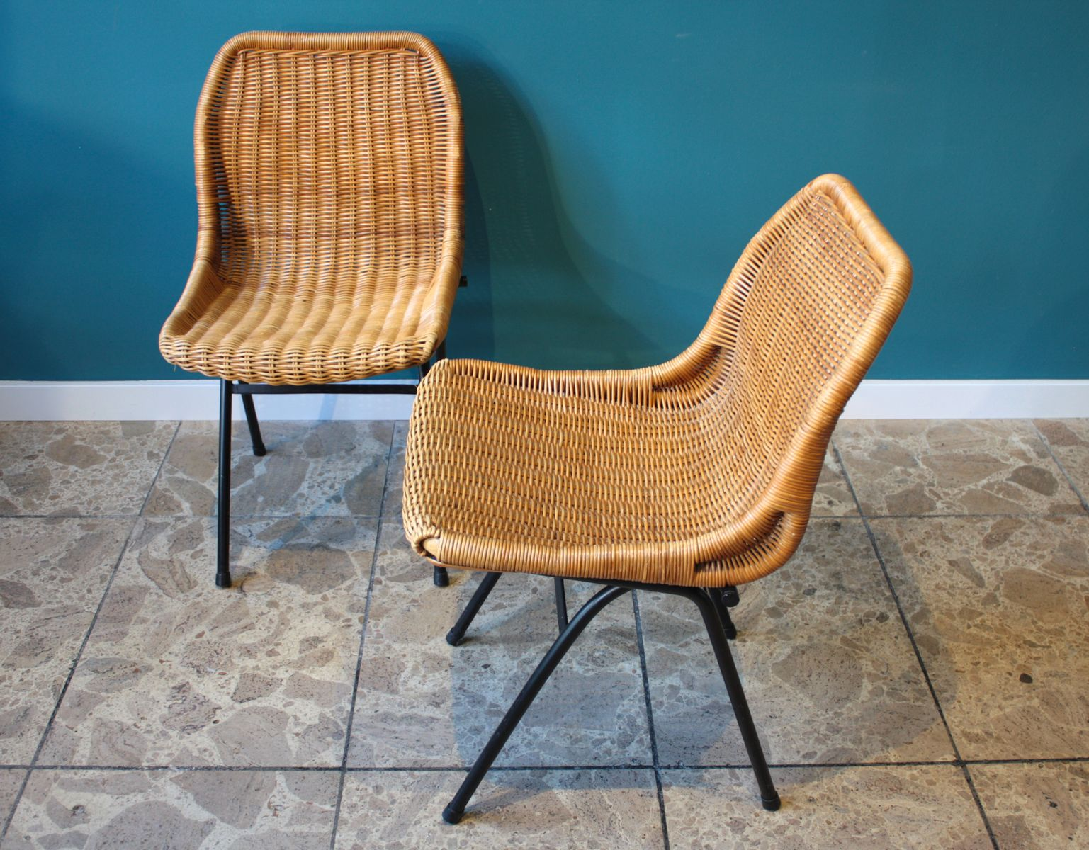 Vintage Rattan Chairs Vintage Rattan Chairs From Rohé Noorwolde Set Of 2 For
