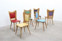 Mid-Century Multi-Colored Dining Chairs by Carlo Ratti ...