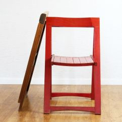 Folding Chair Qatar Rental Mid Century Cream And Red Chairs By Aldo Jacober