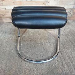 Black Leather Lounge Chair With Ottoman Dining Chairs Sydney Italian Tubular