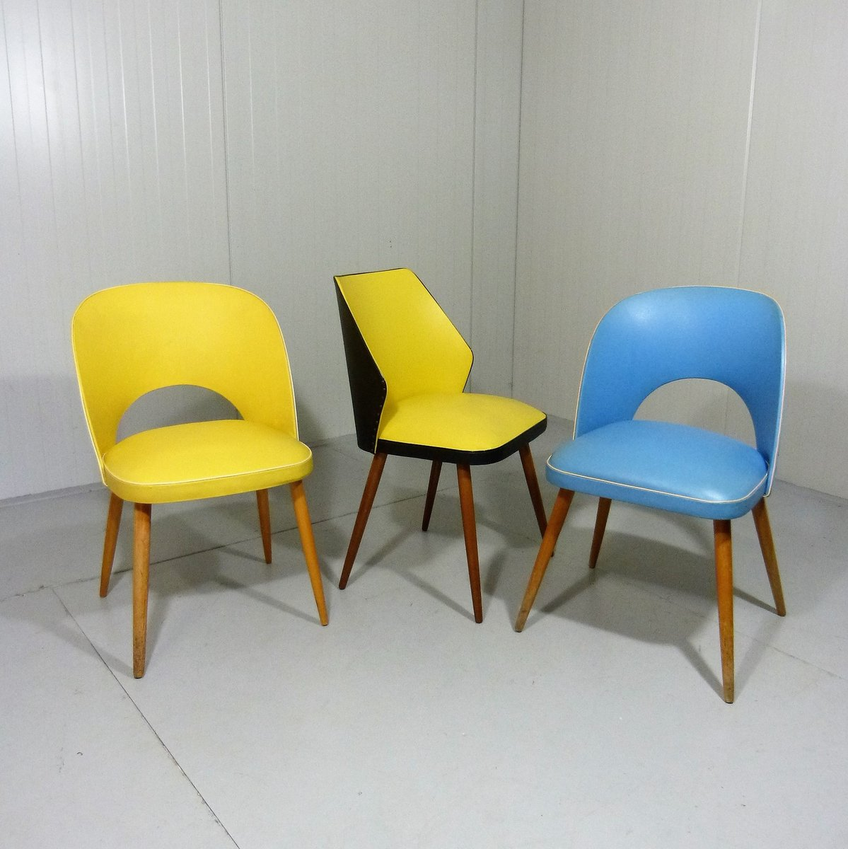 yellow chairs for sale portable high chair aldi dining 1950s at pamono