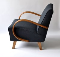 Navy Blue Armchair by Jindrich Halabala, 1940s for sale at ...