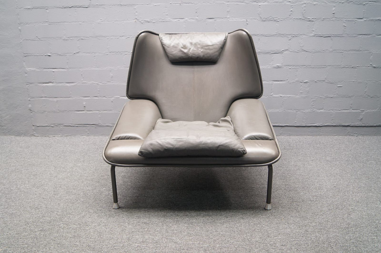 Grey Lounge Chair Grey Italian Lounge Chair With Ottoman 1970s For Sale At