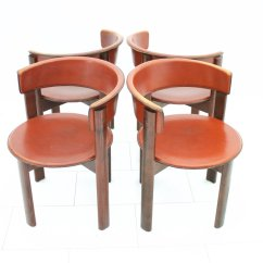 Dining Chair Sets Of 4 Toddler Table Chairs Vintage Italian Leather And Walnut Room By