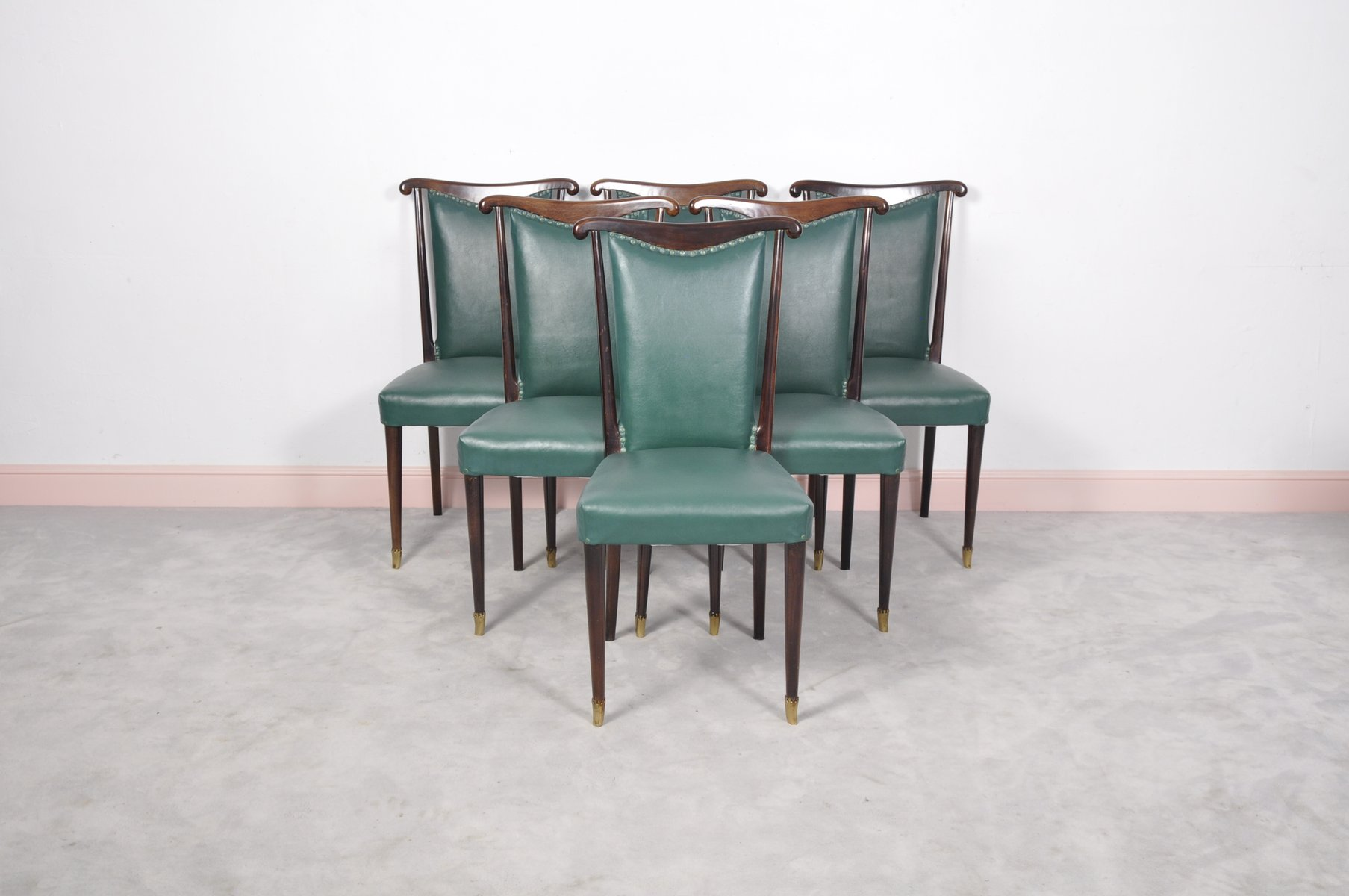 green dining chairs uk wooden church chair italian with leather by paolo buffa
