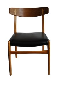 Mid-Century Teak and Leather Dining Chairs by Hans J ...