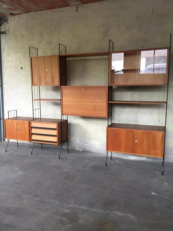 Vintage Modular Wall Unit, 1960s for sale at Pamono