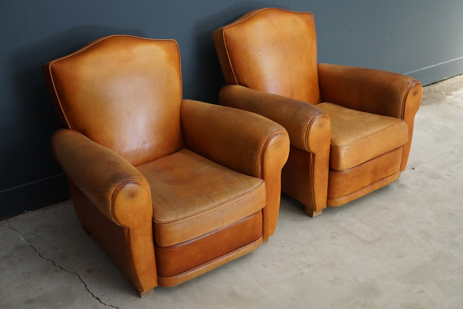 french club chairs for sale high back outdoor chair cushions australia vintage leather 1950s set of 2