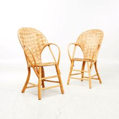 Old Wicker Chairs Uk Clear Eames Chair Vintage Handmade Set Of 2 For Sale At Pamono