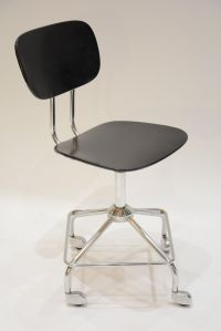 Mid-Century German Chrome Desk Chair for sale at Pamono