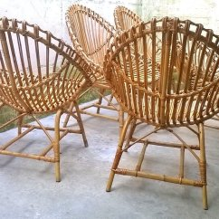Garden Egg Chair Uk Formal Dining Room Seat Covers Italian Rattan Shaped Chairs 1950s Set Of 5 For Sale