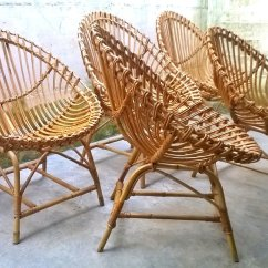 Garden Egg Chair Uk Linen Wingback Italian Rattan Shaped Chairs 1950s Set Of 5 For Sale