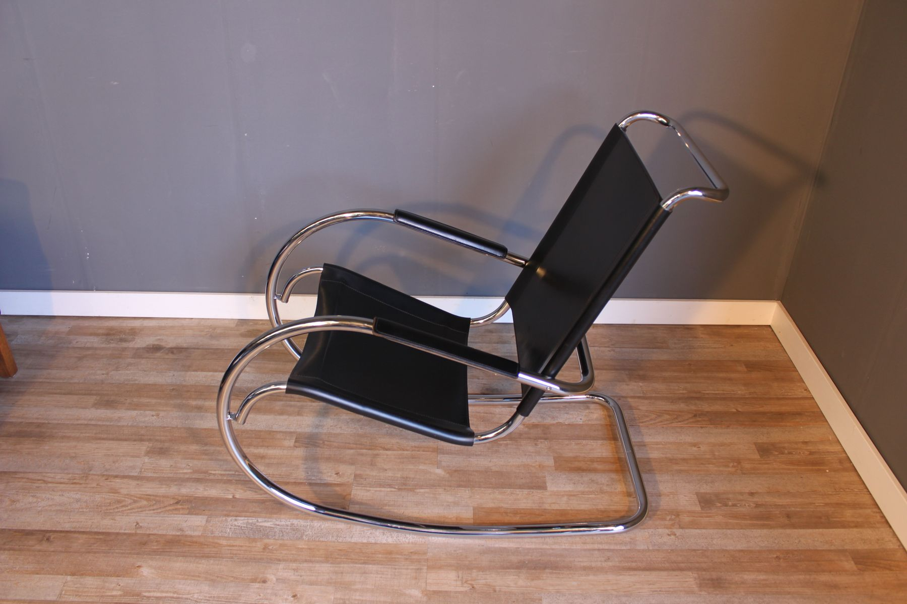 Tube Chair Mid Century Steel Tube Rocking Chair By Mies Van Der Rohe