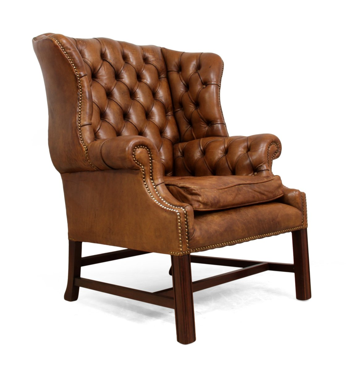 Midcentury Chairs Mid Century Leather Wingback Chair For Sale At Pamono