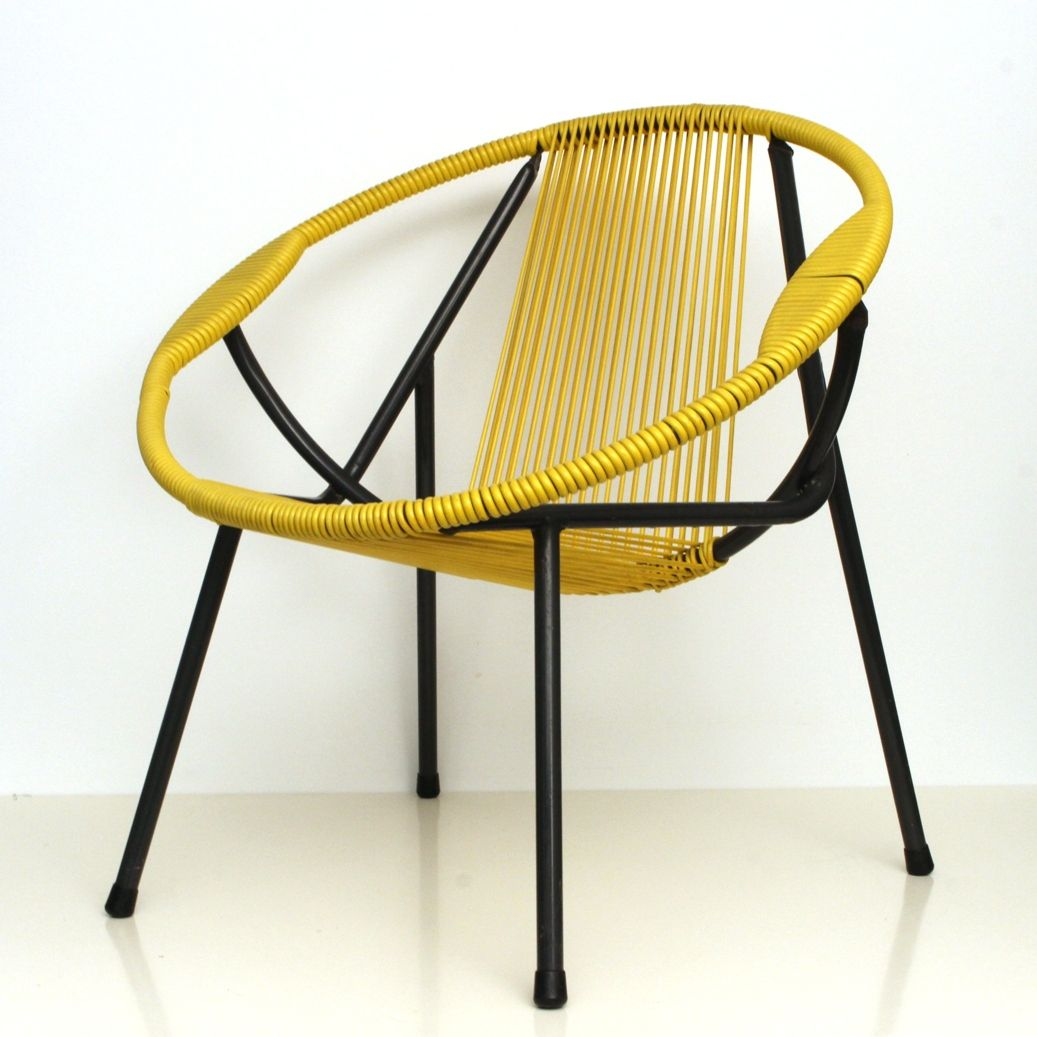 Yellow Metal Chairs Vintage Yellow Rubber And Metal Chair 1950s For Sale At Pamono