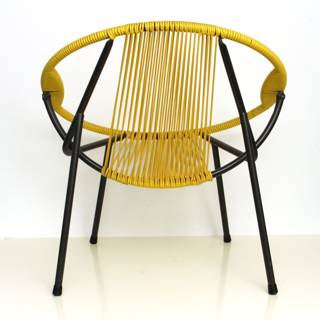 antique metal chairs for sale heywood wakefield chair vintage yellow rubber and 1950s at pamono