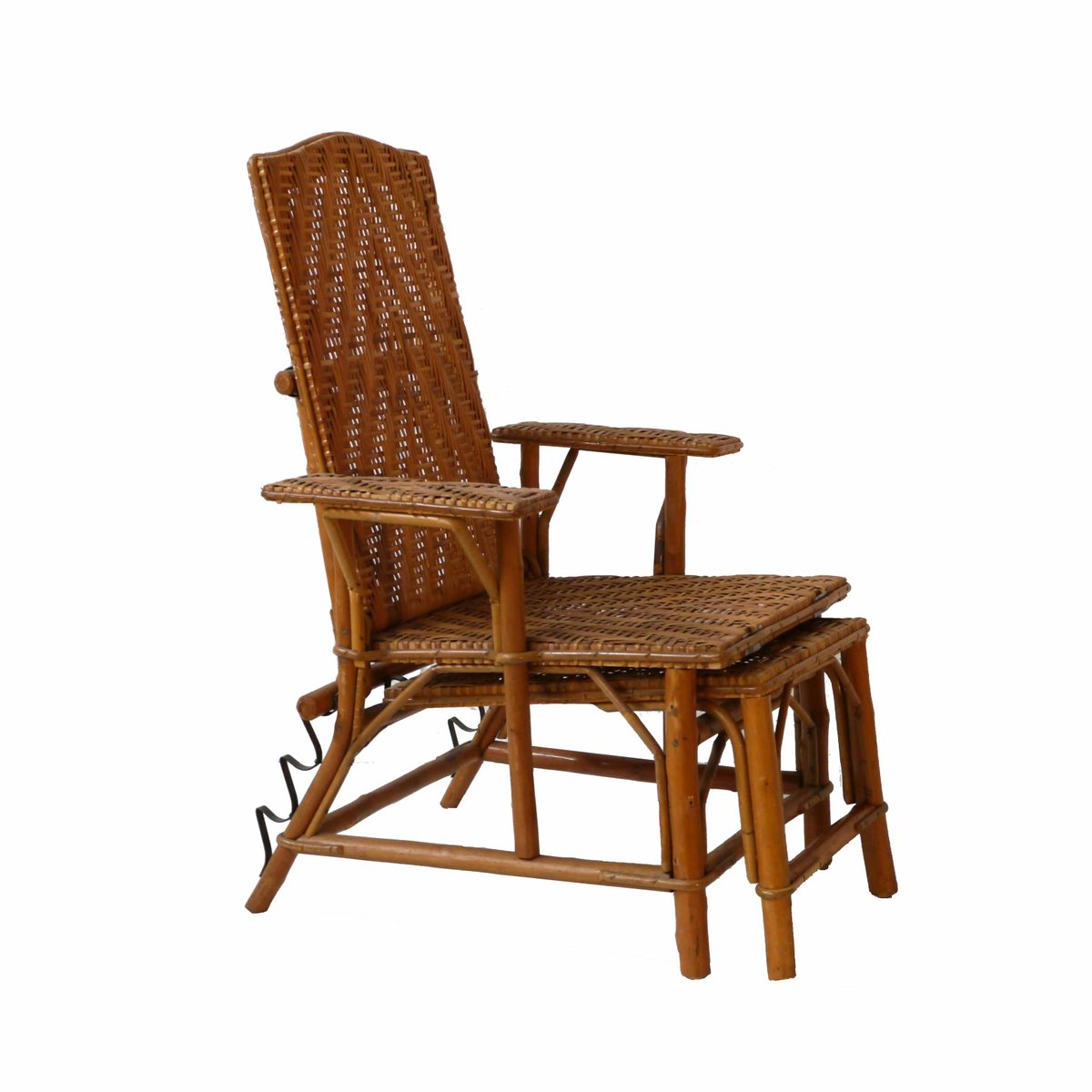 childs rattan chair crate and barrel parsons slipcover children 39s deck 1960s for sale at pamono