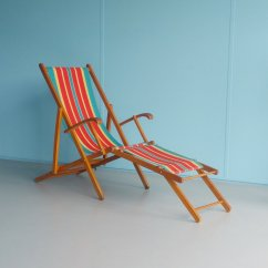 Antique Beach Chair Dining Table And Chairs Ireland Vintage Folding Wooden 1960s For Sale At Pamono