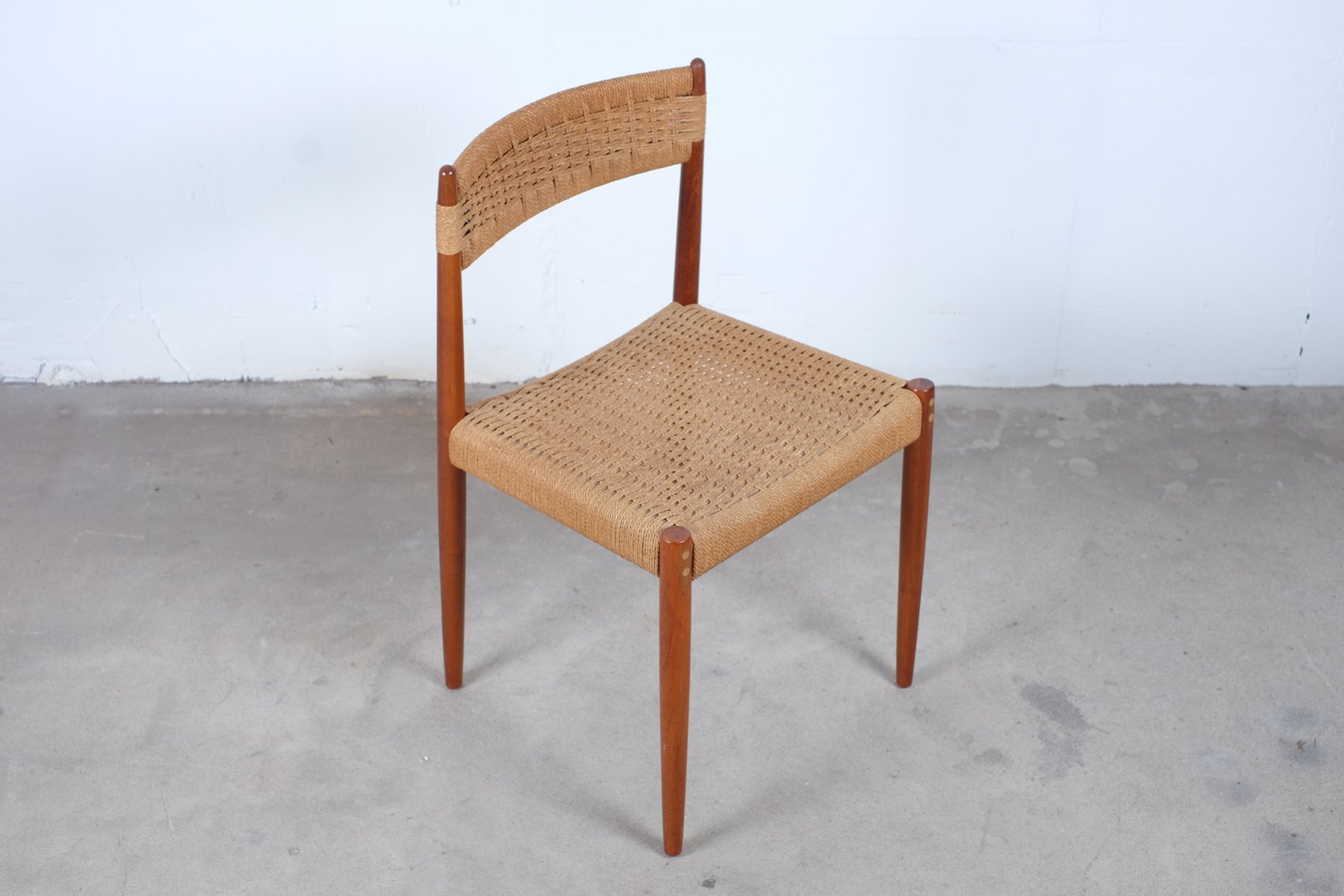 teak dining room chairs for sale england chair and a half glider vintage danish in set of 4 at