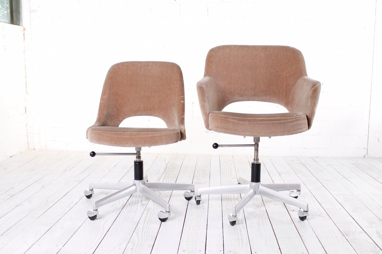 office chair velvet desk chairs on carpet 1960s set of 2 for sale at pamono