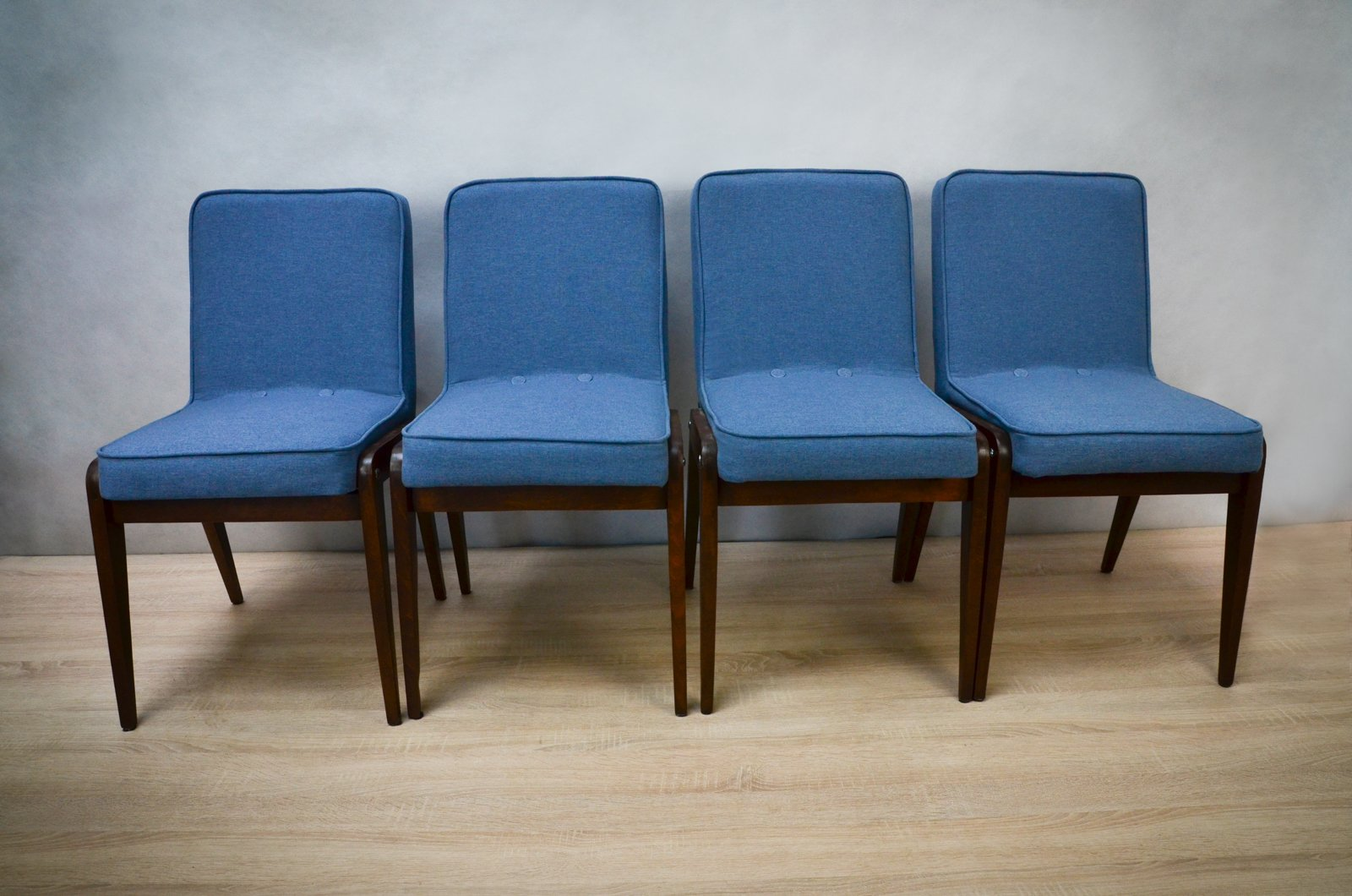 Light Blue Dining Chairs Aga Light Blue Dining Chairs By Józef Marian Chierowski
