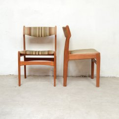Set Of 4 Dining Chairs Red High Heel Chair Scandinavian German 1960s For